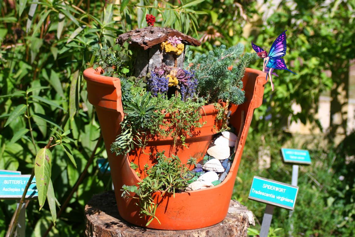 Fairy House with Purple Fairy
